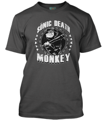 HIGH FIDELITY inspired SONIC DEATH MONKEY T-Shirt