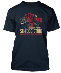 BIG JOE TURNER inspired SHAKE RATTLE AND ROLL One Eyed Cat T-Shirt