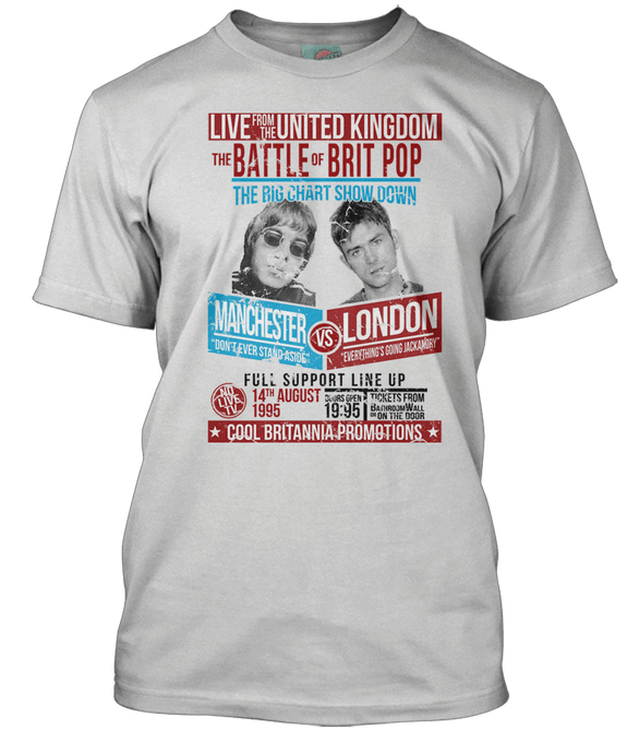 BATTLE OF BRITPOP Blur vs Oasis inspired T-Shirt