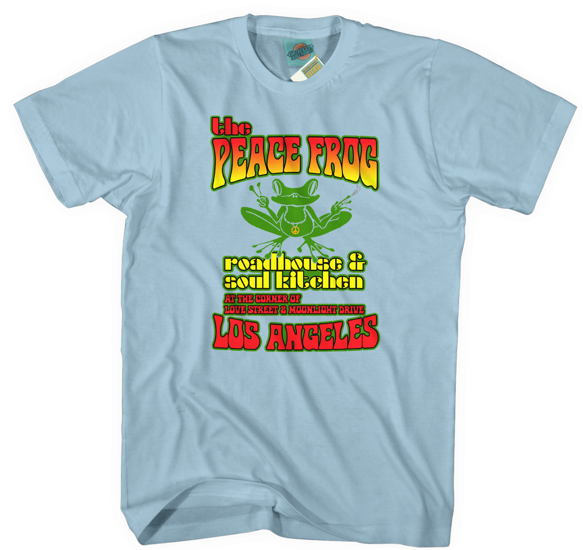 DOORS inspired PEACE FROG\'S SOUL KITCHEN T-Shirt | bathroomwall