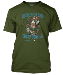 JOHNNY WINTER inspired CHEAP TEQUILA Texas T-Shirt