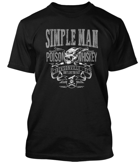 LYNYRD SKYNYRD inspired SIMPLE MAN Poison Whiskey T-Shirt