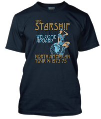 LED ZEPPELIN inspired STARSHIP  1973-75 US TOUR T-Shirt