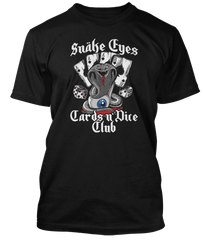 MOTORHEAD inspired ACE OF SPADES Snake Eyes Cards N Dice T-Shirt