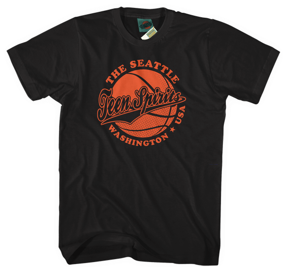 NIRVANA inspired SMELLS LIKE TEEN SPIRIT Basketball T-Shirt