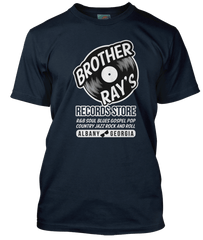 RAY CHARLES inspired BROTHER RAY RECORDS blue and soul T-Shirt