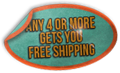 Buy 4 or more gets you free shipping
