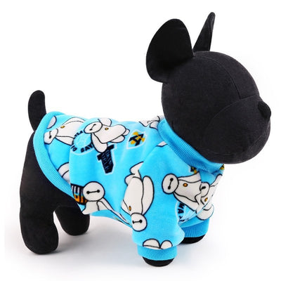 Cartoon Dog Sweater Fleece