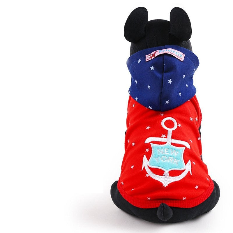 Anchored Cotton Dog Vest Hoodie