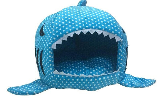 Blue Polka Dot Shark Bed