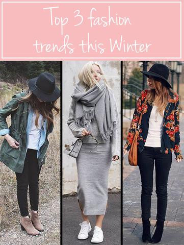 TOP 3 FASHION TRENDS FOR WINTER 2017