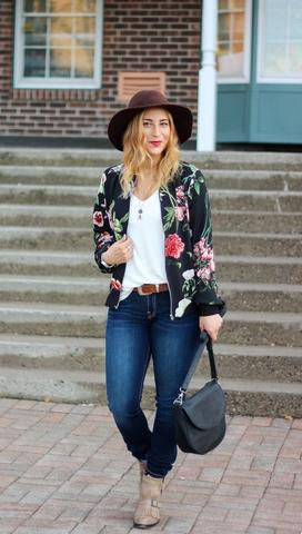 Top 3 Trends for Winter - Floral Bomber