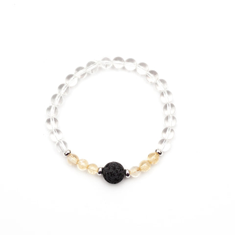 Pearl Diffuser Bar Necklace - White
