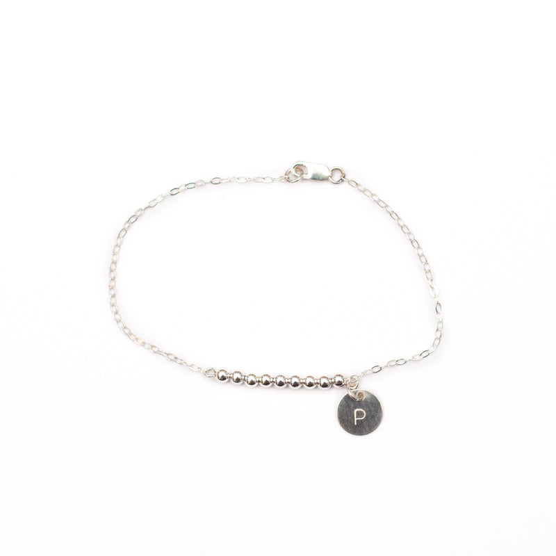 Bella Silver Bar Personalised Initial Bracelet