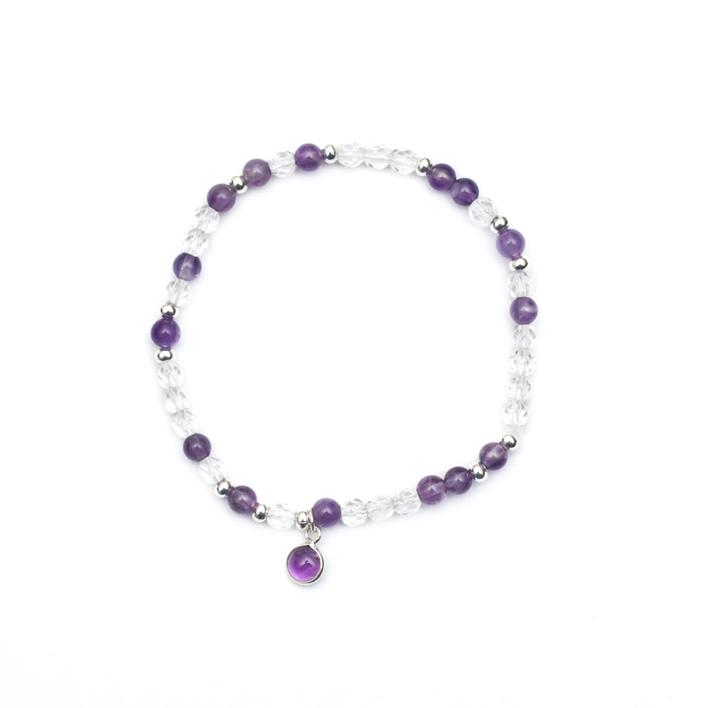 Awakened Bracelet - Amethyst, Clear Quartz