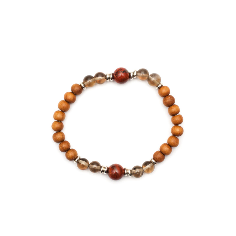 I Am Grounded Root Chakra Bracelet