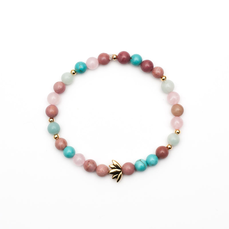 Pure Heart Bracelet - Rhodonite, Rose Quartz, Amazonite, Magnesite