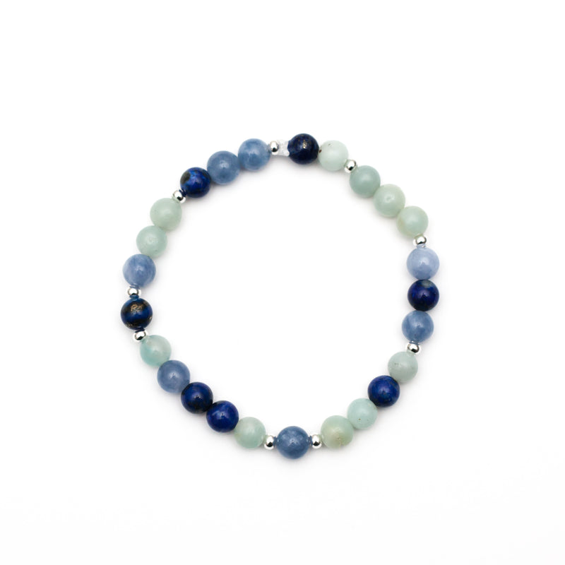 Vibration of Truth Bracelet - Lapis Lazuli, Amazonite, Angelite