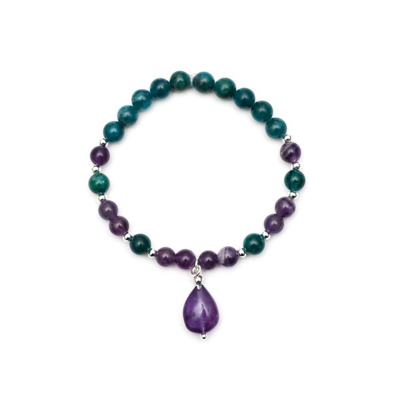 Follow Your Dreams Bracelet - Apatite, Amethyst