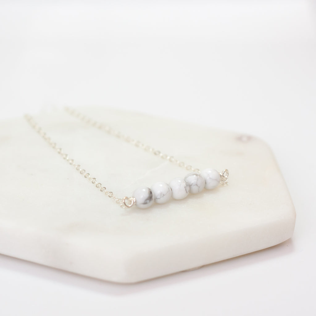 Howlite Bar Necklace