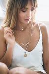 Moonstone Birthstone Necklace - Gold