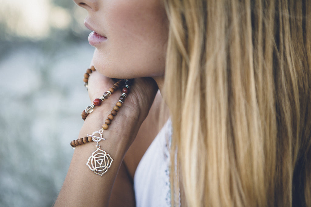 Yoga Jewellery Mala Beads with Chakra Charm