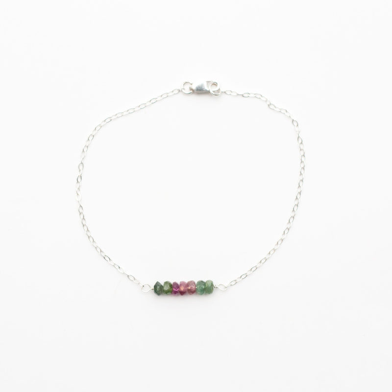 Tourmaline Bar Birthstone Bracelet