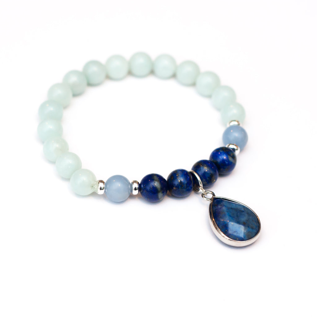 Inspired Truth Bracelet - Lapis Lazuli, Amazonite, Angelite