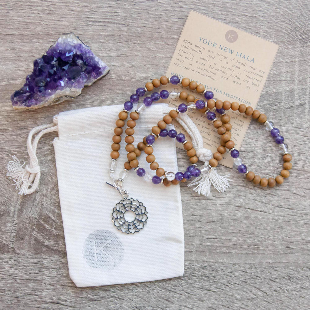 I Am Enlightened Crown Chakra Mala