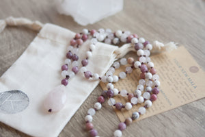 Peaceful Heart Mala Necklace