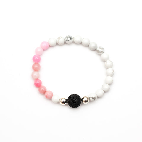 Pearl Diffuser Bar Necklace - Pink
