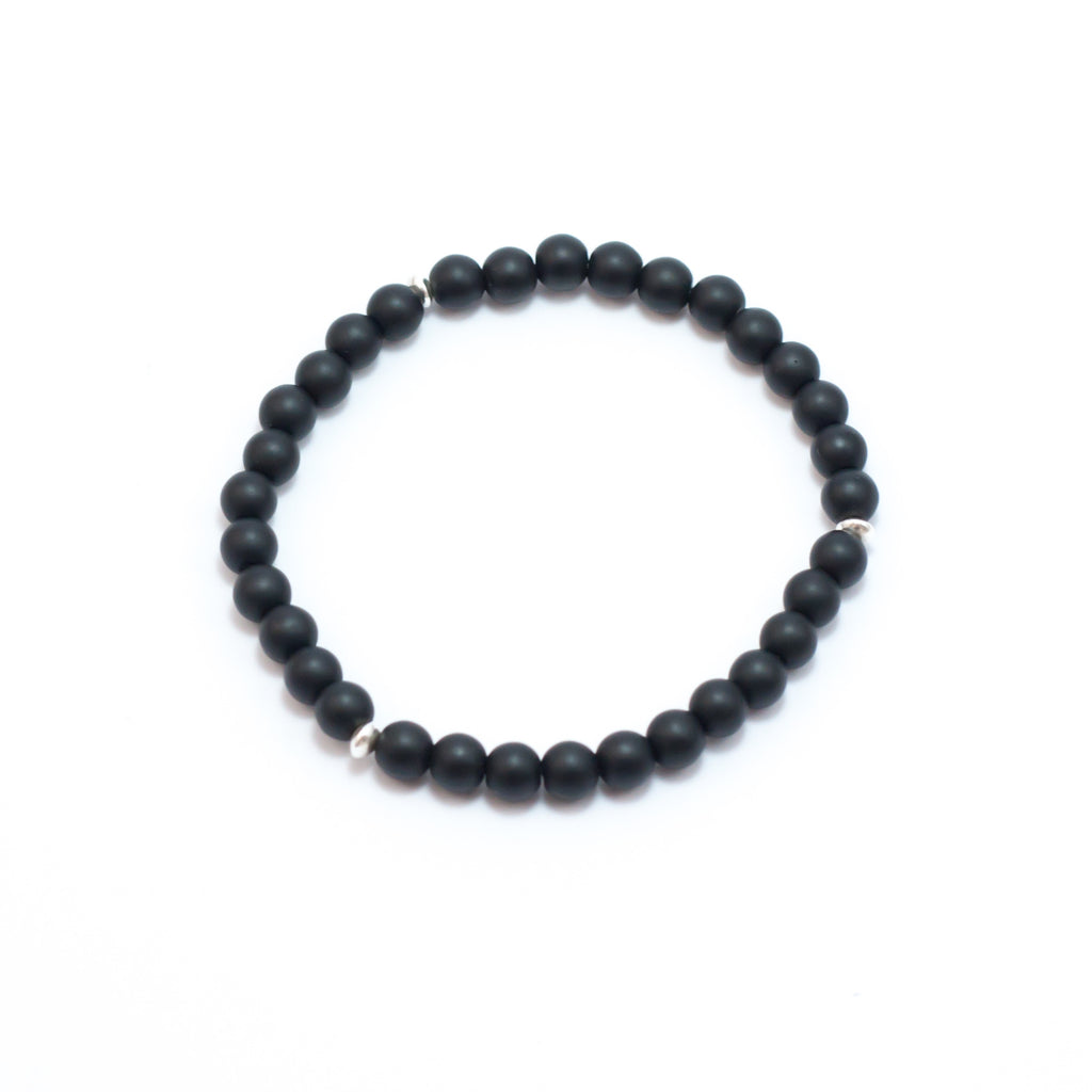 Valor Black Onyx Small Bead Bracelet
