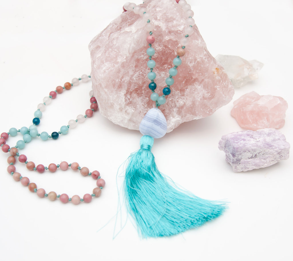 2019 New Years Reading and Intention Custom Mala Necklace