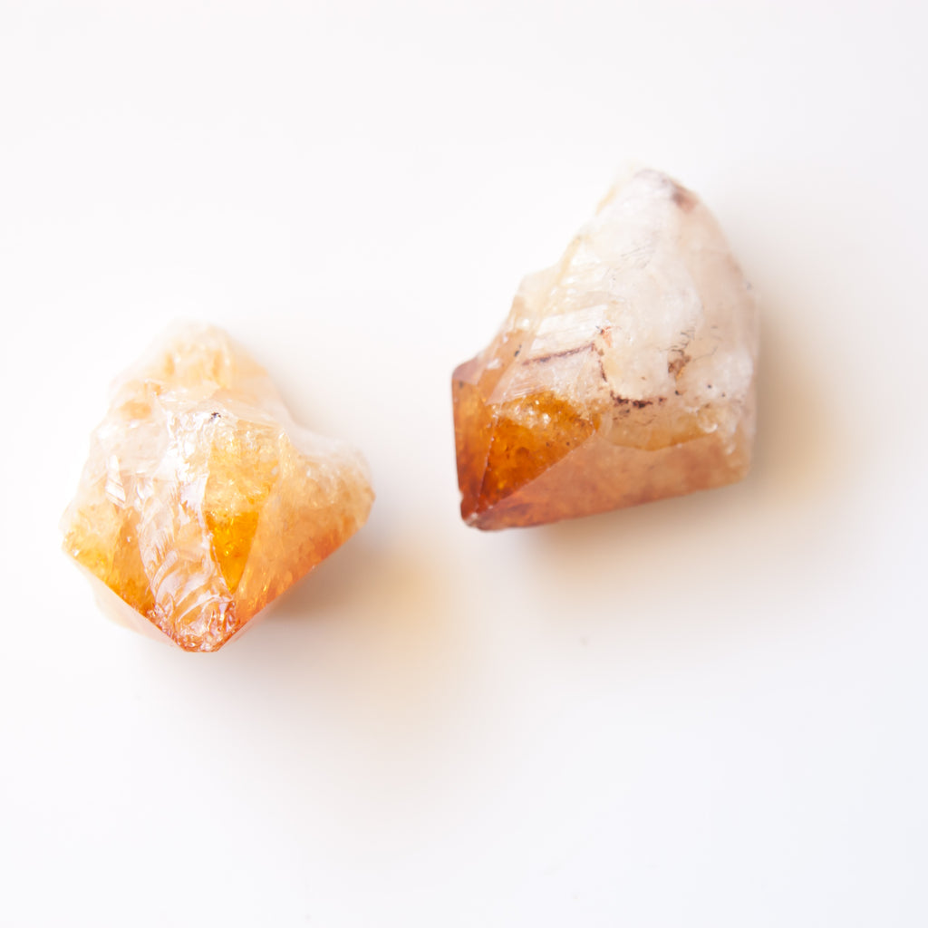 Mini Citrine Rough Crystal Point