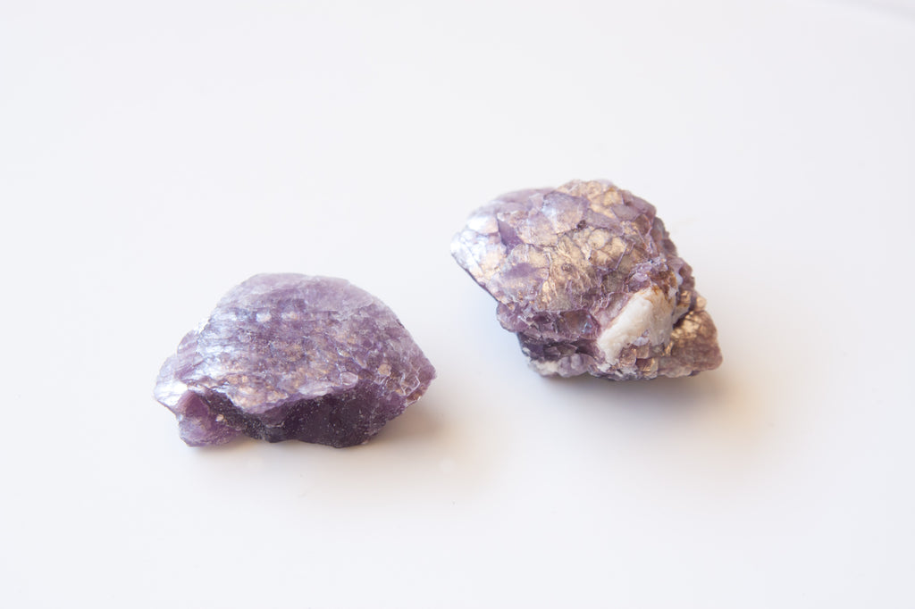 Bubble Lepidolite Crystal pieces