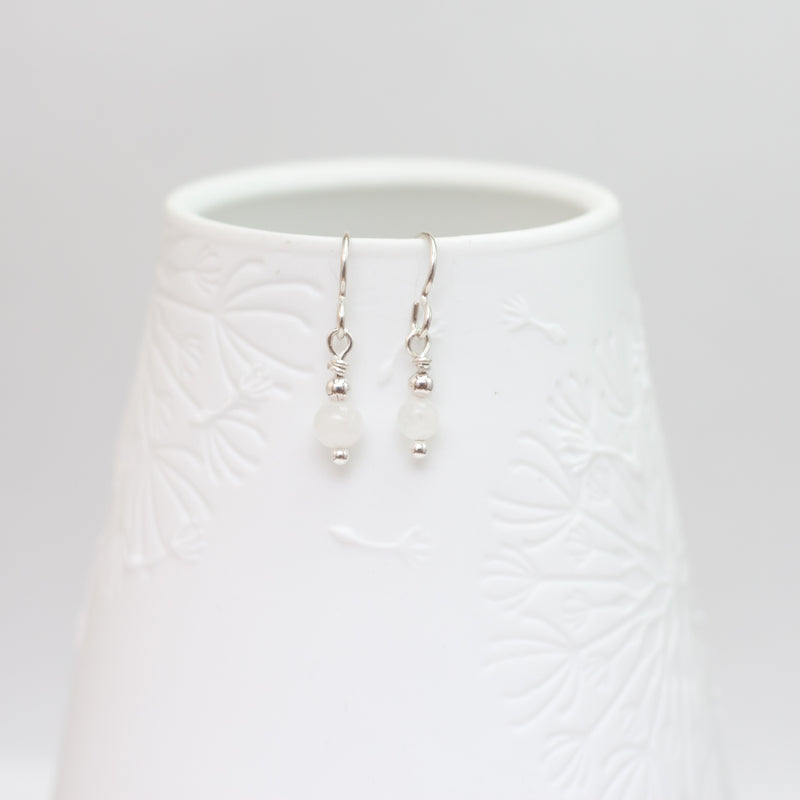Small Moonstone Drop Earrings