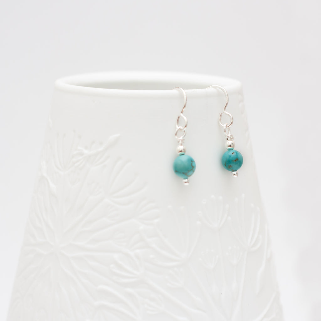 Turquoise Magnesite Drop Earrings