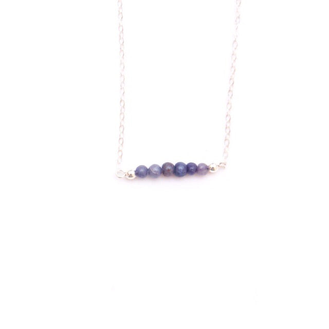 Iolite Bar Necklace