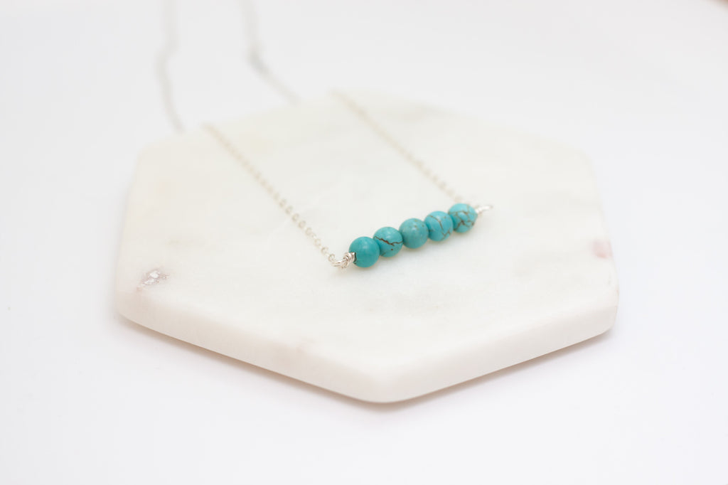 Turquoise Magnesite Bar Necklace