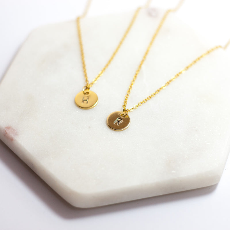 Personalised Initial Charm Necklace - Gold