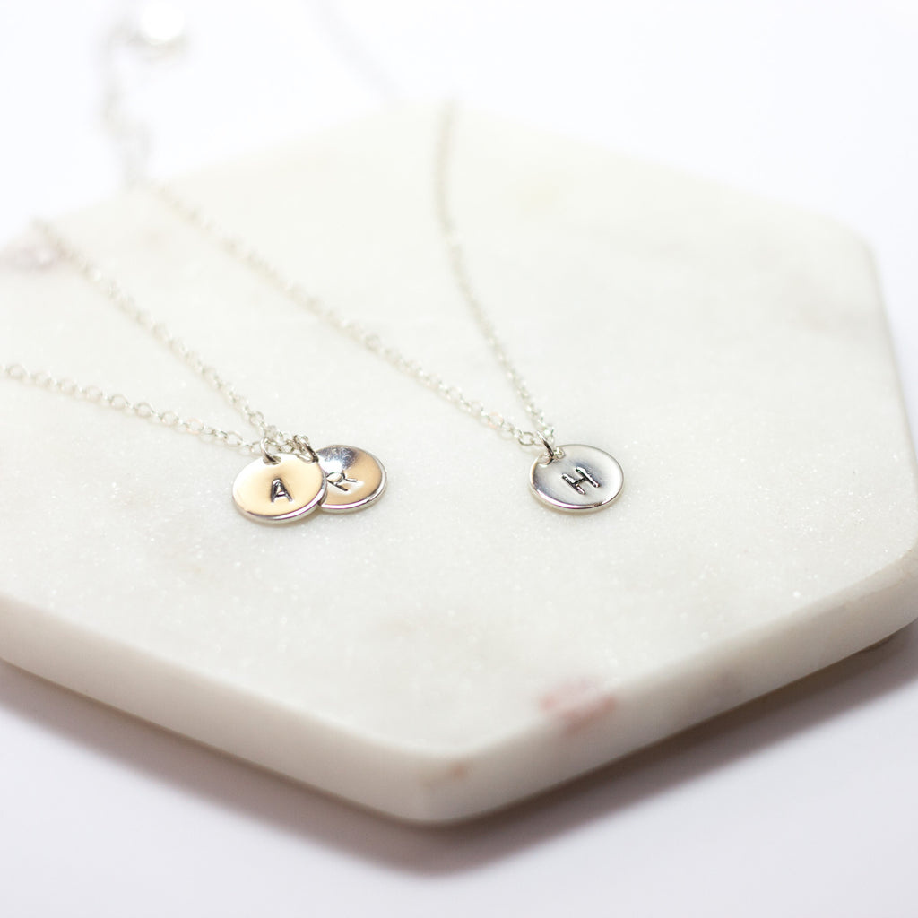 Personalised Initial Charm Necklace - Silver