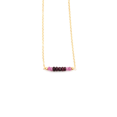 Waterfall Amethyst Slice Necklace