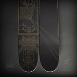 "The Whipit ""LASERWOLF"" Brian Steely x J Collab Limited Edition Ski"