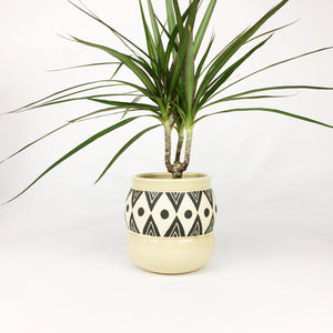 LARGE CURVY PLANT POT