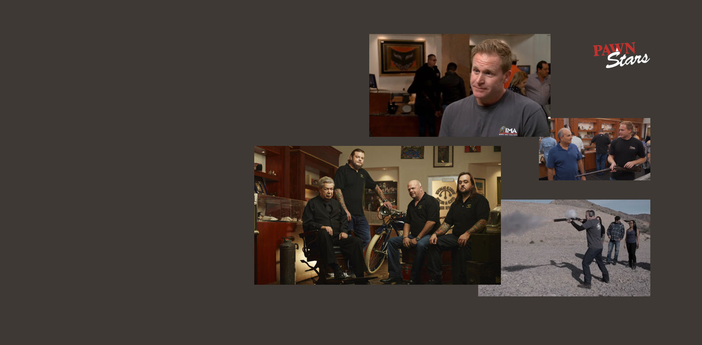Montage of screen grabs from the television show Pawn Stars