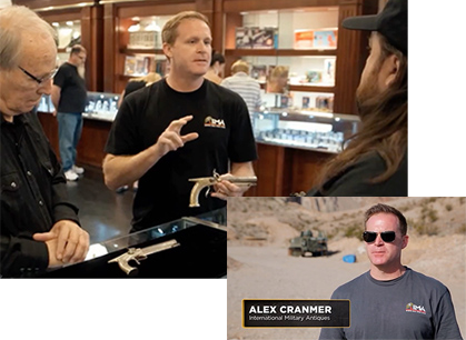 Alex Cranmer pictured on Television Show Pawn Stars