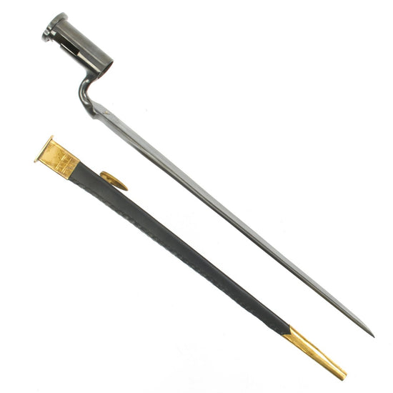 British East India Company Model F Musket Bayonet with Scabbard