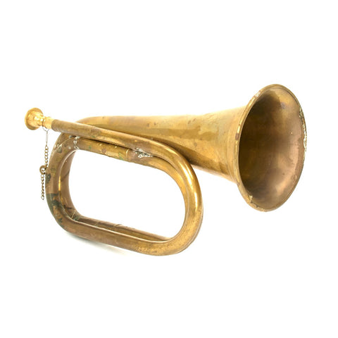Military Brass Bugle - Knocked Around Closeout Special New Made Items
