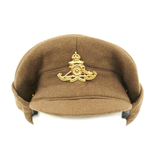 British WWI Gor Blimey 1915 Winter Forage Trench Cap- Wool