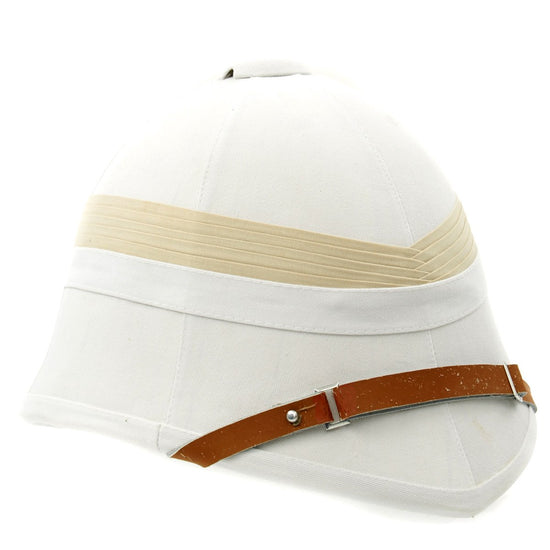 British P-1871 Victorian Colonial White Pith Helmet